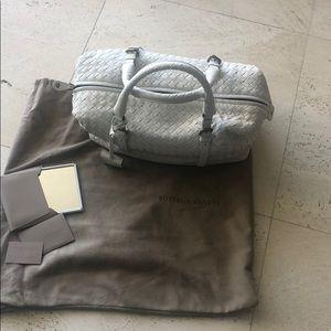 Bottega Veneta white satchel . Never carried